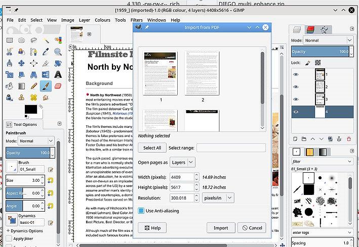 gimp user importing pdf into gimp 2. Black Bedroom Furniture Sets. Home Design Ideas