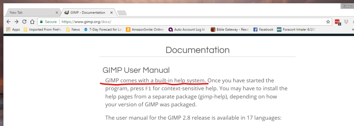 Gimp Manual 2017 Help Amp Support Gimpusers Com border=