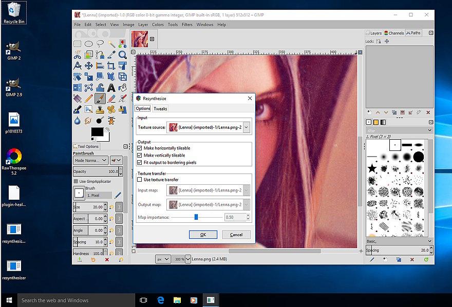Windows 10 Gimp 2 9 6 Resynthesizer V1 0 (2018) — Help