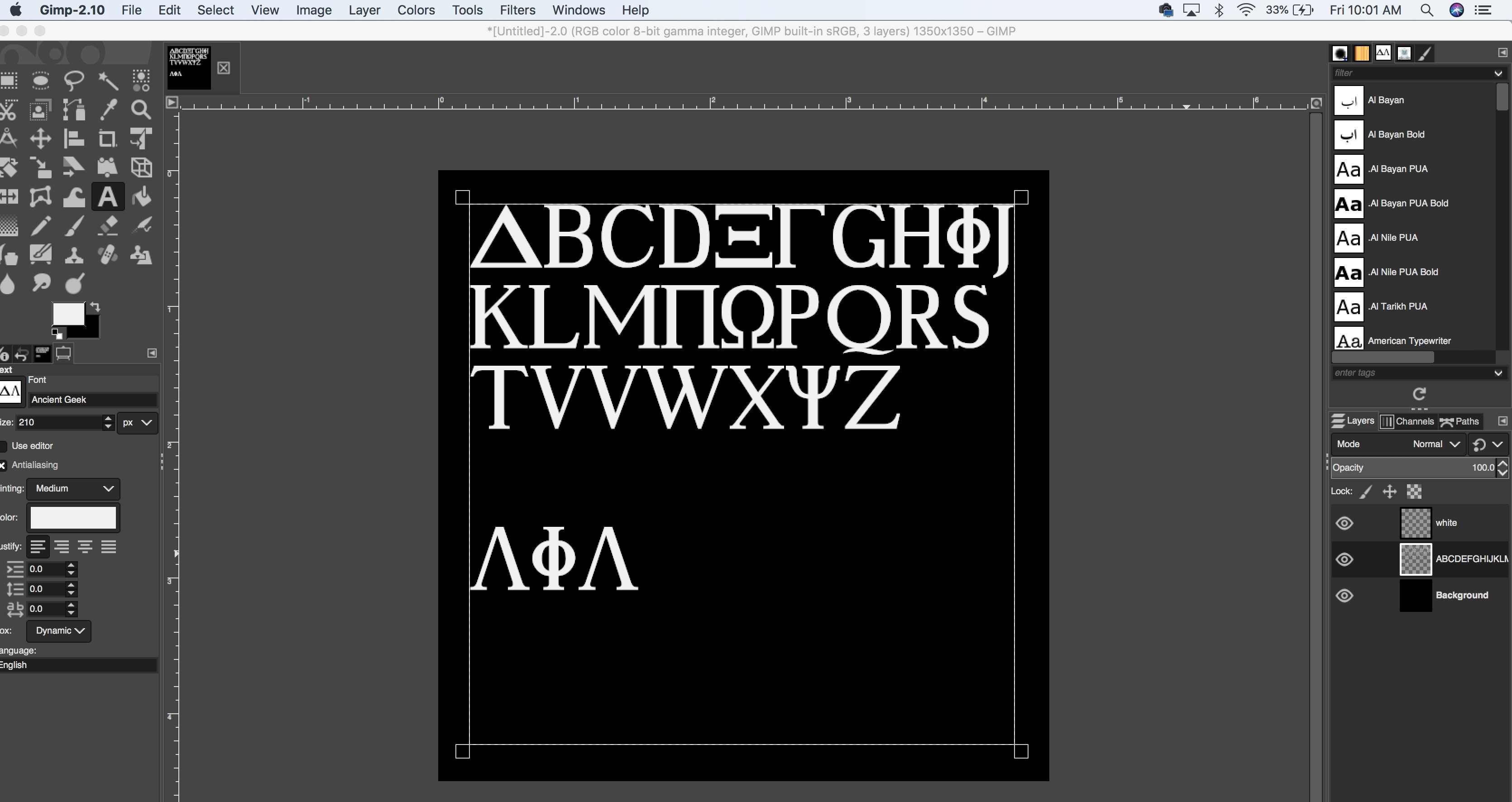 Greek Letters (2018) — Help & Support — gimpusers com