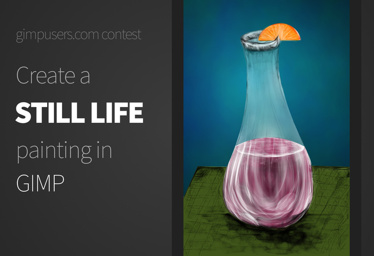 Create a still life painting in GIMP!