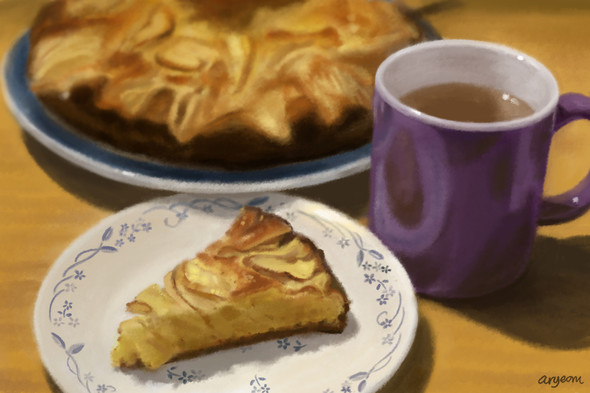 Apple Cake and Cinnamon Tea