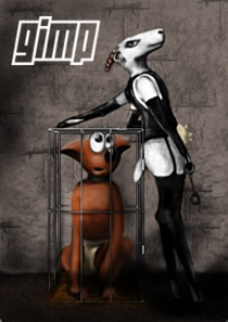 Current GIMP dev splash screen. Wilber will be set free soon for the next stable GIMP release ;)