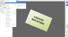 Canvas rotation feature
