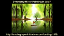 Symmetry/Mirror Painting in GIMP