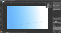 The new gradient tool in action