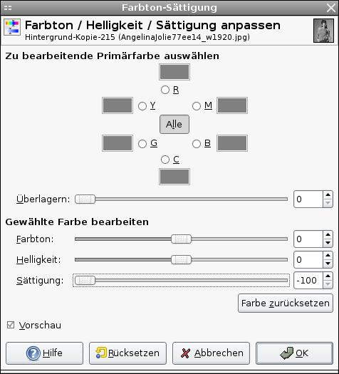 farbsättigung windows 10