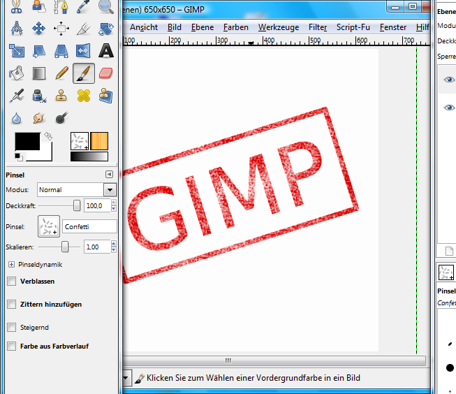 Штамп в gimp