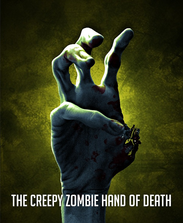 The creepy zombie hand of death