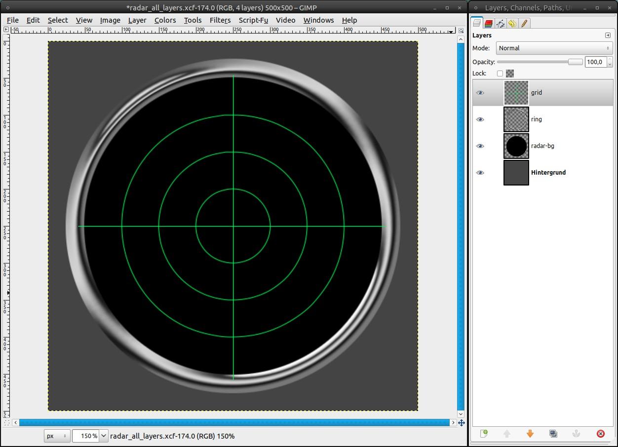 Create an animated radar with GAP — Tutorials — gimpusers com