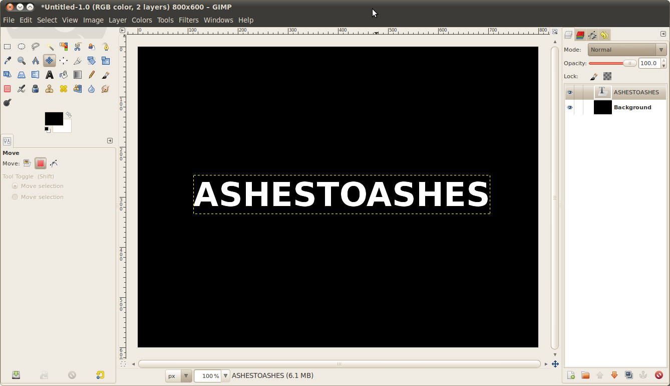 Ashes to ashes, dust to dust  Dissolve text into particles