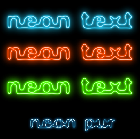 neon glow tutorials. Black Bedroom Furniture Sets. Home Design Ideas