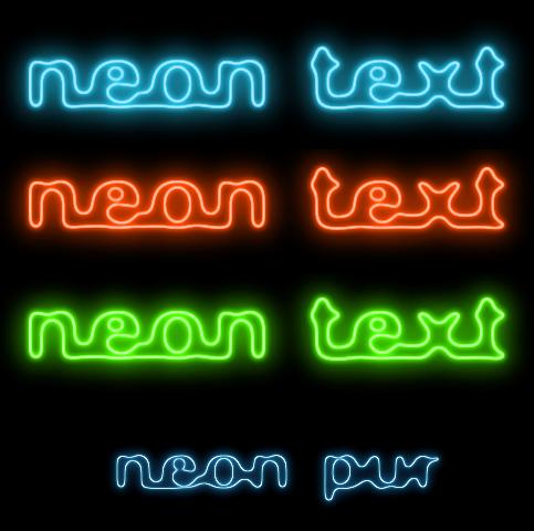 neon glow tutorials. Black Bedroom Furniture Sets. Home Design Ideas
