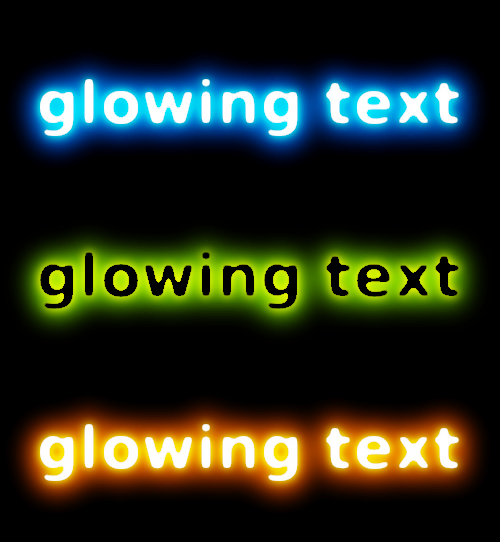 Cool glowing text — Tutorials — gimpusers.com
