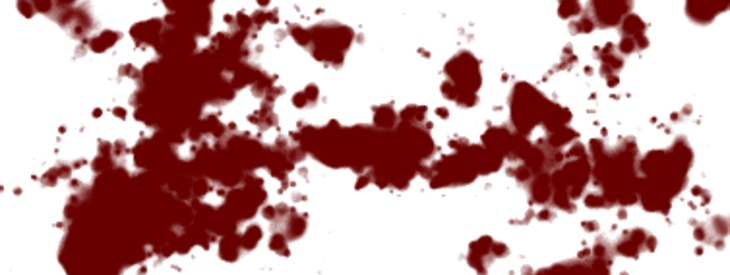 Creating a bloody splatter texture