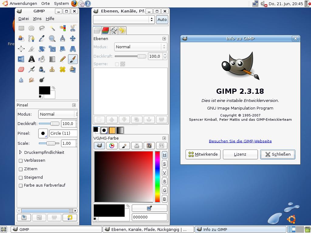 gimp 2.4.5
